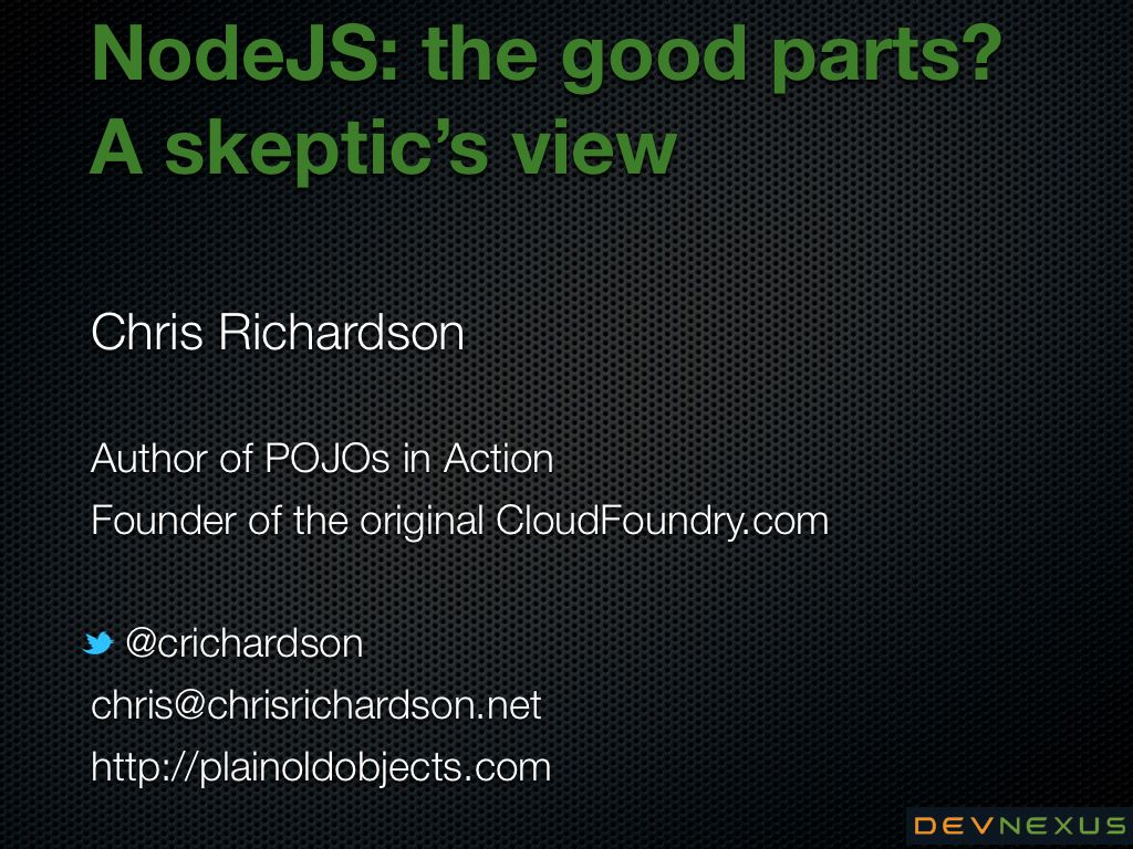 presentations nodejs the good parts a skeptic s view